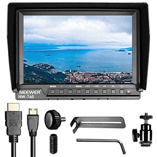 Neewer nw-760Field Monitor superdünn 17,8cm IPS Bildschirm 1080P Full HD 1920x 1200unterstützt 4K Eingang HDMI mit Histogramm, Focus Assist, überbelichtung für DSLR Kamera aufgefordert (Akku Nicht Enthalten)