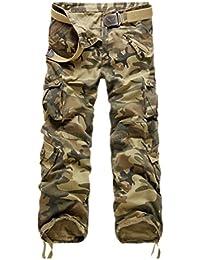 Ghope Vintage Cool d'été Homme Style Militaire Cargo Shorts Sports de Combat Casual Pantalon Oversize
