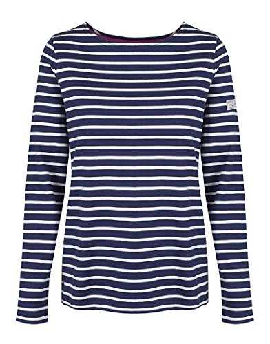 Joules Ladies Harbour Mariner's Grade Cotton Jersey Top Navy