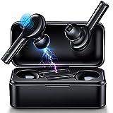 JOMARTO Bluetooth Kopfhörer Kabellos in Ear Sport Headset-Stereo Noise Cancelling Ohrhörer Bluetooth Kopfhörer V5.0 Mikrofon IPX5 Wasserdicht mit 380mAh Ladebox Wireless Earbuds für IOS Android