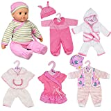 New Born Baby Doll Set of 6 Outfits 12-16