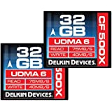 Delkin DDCF500-32GB(2X32) Pack de 2 Stockages de photo numérique 32 Go