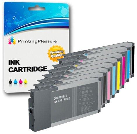 Preisvergleich Produktbild 8 Druckerpatronen für Epson Stylus Pro 4000,  7600,  9600 / kompatibel zu T5441,  T5442,  T5443,  T5444,  T5445,  T5446,  T5447,  T5448