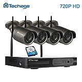 techage Plug & Play 4CH HD NVR Kit P2P 720P sans fil intérieur extérieur ir Vision nocturne sécurité caméra IP Wifi CCTV Système, avec disque dur 1To