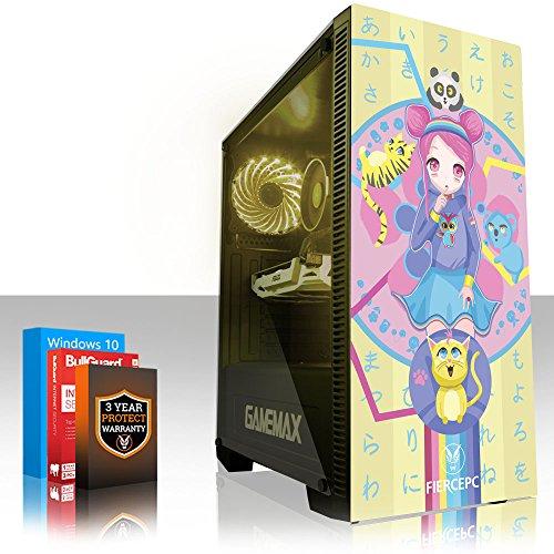 Fierce KREATION RGB Gaming PC - Schnell 4.6GHz Hex-Core Intel Core i7 8700K, 240GB Solid State Drive, 2TB Festplatte, 8GB 2666MHz, NVIDIA GeForce GTX 1050 Ti 4GB, Windows 10 installiert 959489