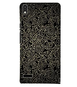 PrintDhaba BLACK PATTERN D-6293 Back Case Cover for HUAWEI ASCEND P6 (Multi-Coloured)