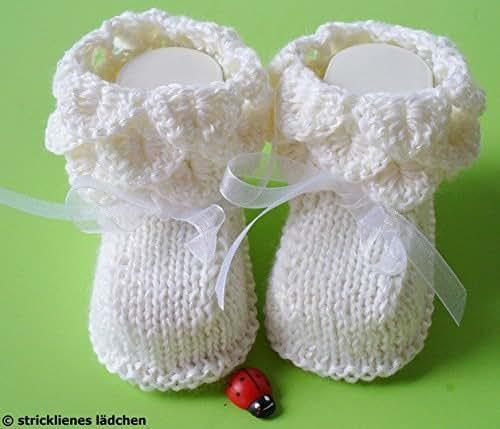 Babyschuhe Taufschuhe gestrickt und gehäkelt: Amazon.de: Handmade