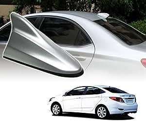 Auto Pearl - Premium Quality Silver Shark Fin Replacement Signal Receiver Antenna For - Hyundai Verna Fluidic