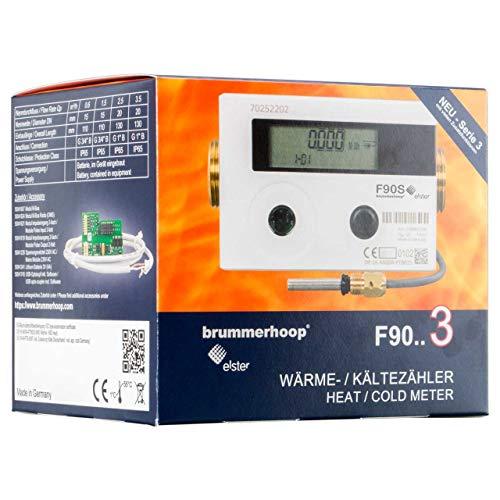 Contatori di calore Elster F90S3 Qp0,6 DN15 110mm Singolo Fascio...