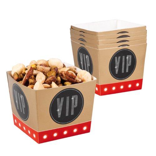 PARTY DISCOUNT ® Schale VIP aus Pappe, 6 Stk. 400 ()