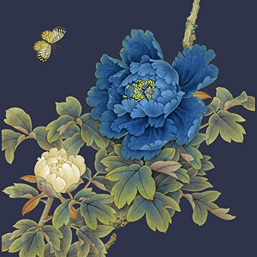 Butterfly in Love with Flowers Men's Graphic T-Shirt - Design By Humans Navy