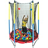 Toy Park Junior Trampoline with net Enclosure (55 Inch), Safety Net, Padded Poles, Spring Cover and Height is 182cm