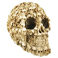 Human Skull Decorated with Skeletons and Skulls Halloween Figurine by YTC Summit International