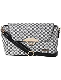 Bern Black Color Stylish Checkered Sling Bag For Women