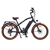 "NCM Miami 26"" Cruiser Retro Look E-Bike 48V 16Ah 768Wh Akku, matt schwarz"