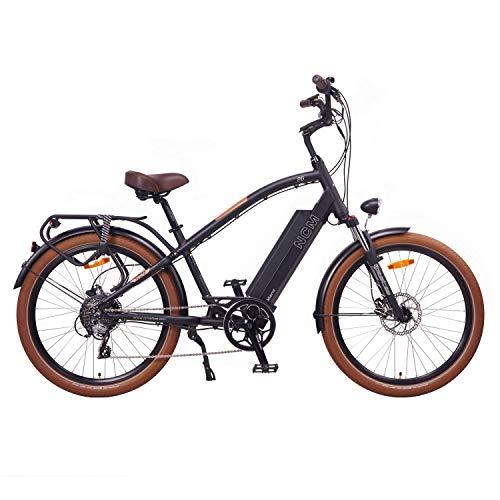 "NCM Miami 26\"" Bicicleta eléctrica Cruiser Retro E-Bike 48V Batería 16Ah 768Wh Negro"