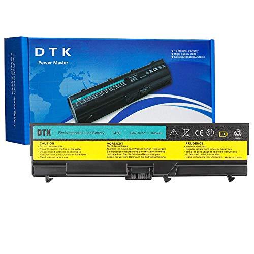 DTK Batería de Alto Rendimiento para portátil Lenovo IBM Thinkpad W530  W530I L430 L530 T430 T430i T530 T530i Series [5200 mAh-6cell]
