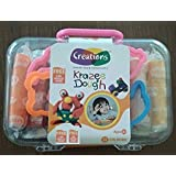 Krazee Dough ArtClay Modeling Set ? 12 Pcs Of Colorful Non-Hardening Clay Dough With 3 Molds And 1 Rolling Pin