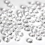 Forever Beads - 5000 pietre di vetro sfaccettate, decorazione da tavolo per matrimoni, 2 dimensioni miste Clear