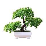 WuWxiuzhzhuo Die Begrüßung Kiefer Bonsai Simulation Künstliche Topfpflanze Ornament Home Decor Green