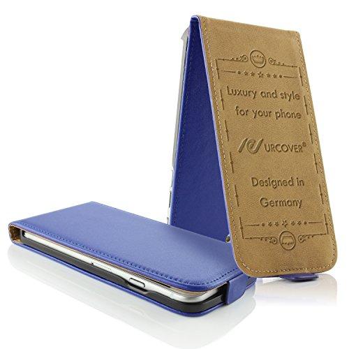 Apple iPhone 6 / 6s Handyhülle von original UrCover® in der Flip Edition Schutzhülle Edel Case Cover Etui Grün Dunkel Blau