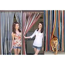 Cortina para puerta Holland Plastics Brand, cortina-tradicional multicolor- X 80 cm de ancho 200 cm de largo