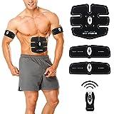 Rornovic Cinturon Electroestimulador de Abdominales por Ejercicio muscular Cinturón de Masaje Cinturón Vibrador Cinturón Ejercita los Músculos Abdominales y Extremidades Para Hombres y Mujeres (Control Remoto)