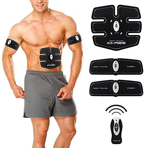 Bauchmuskel Ab Trainer Elektrostimulation, Muskel Geräte Muskeltraining Bauchmuskel Gürtel Bauchweggürtel Waist Trainer Sport Elektrisch Fitness Gerät White