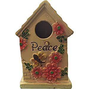 "Bee Poterie Jardin Birdhouse «paix """