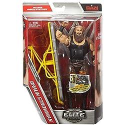 WWE Elite Serie 52 wrestling action figure - Marrone strowman con accessori per Statuetta giocattolo