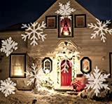 HAPPYMOOD Schnee Beamer LED Licht Wasserdicht Drehen Fee Weihnachten Projektion Lampe LED Umzug Weiß Zum Indoor und Draussen Garten Dekoration