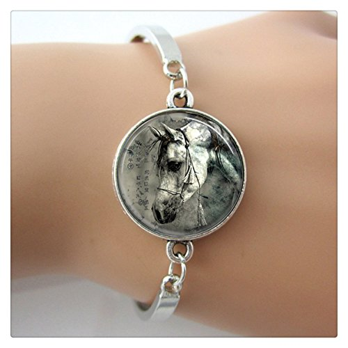 pulsera-de-caballo-ecuestre-jewelry-animal-bangle-blanco-y-negro-art-fotos-pulseras-de-cristal-color