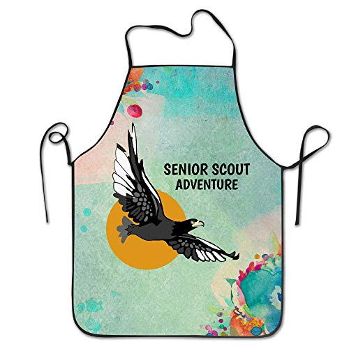 LiCai Senior Scout Adventure Western Cape South Africa Chef Kitchen Cooking Apron Bib with an Adjustable Neck Baking Aprons for Men Or Women Ladyâ€s Girls Chef Waitress Apron