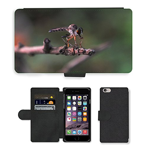 Just Mobile pour Hot Style Téléphone portable étui portefeuille en cuir PU avec fente pour carte//m00140188insectes Libellule Animal Nature/One/Apple iPhone 6Plus 14cm