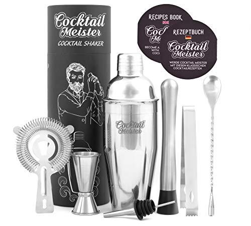 CocktailMeister Premium Cocktail Shaker Set, Professional Cocktail Mixing Set, Cocktail Set Ideal für Zuhause oder die Bar