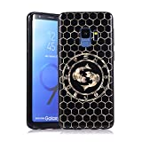 Coque pour Samsung S9, E-Lush Etui Housse Silicone TPU + Case Rigide PC Case Cover Ultra Mince Constellation Motif Antichoc Protection pour Samsung Galaxy S9 - Pisces
