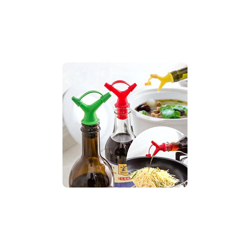 L Essig Ausgieer Corker Weinflaschenverschluss Ausgieer L Essig Zufuhr Des Auslaufs Mit Cap 4 Stck