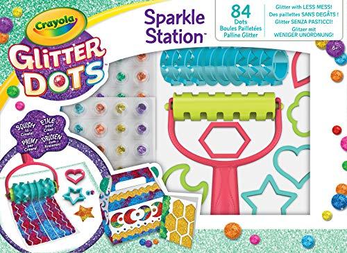CRAYOLA - Glitter Dots Sparkle Station, Set per Giocare e Creare con Il Glitter Modellabile,  04-0804