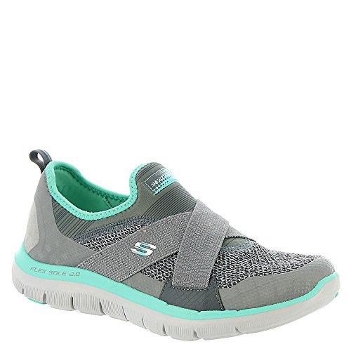 Skechers Flex Appeal 2.0New Image, Baskets Basses Femme Grey/Turquoise