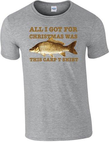360pesca-Natale Pesca alla Carpa, t shirt-maglietta taglia S a 2x l Sport Grey L