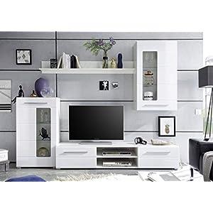Wohnwand Modern Weiß Deine Wohnideende