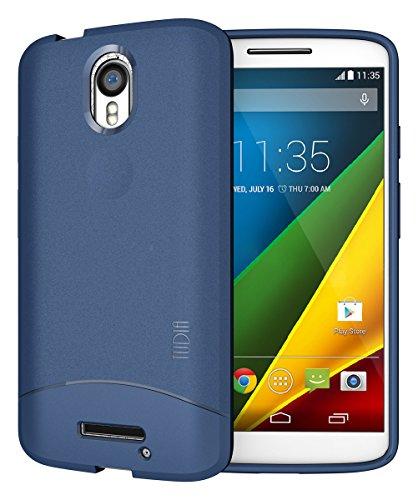 TUDIA ARCH TPU Schutzhülle Motorola Droid Turbo 2 (Verizon) / Moto X Force (2015) Ultra Slim Hülle (Blau)