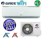 Climatizzatore mono split LOMO WI-FI 18000 Btu GREE classe A++/A+ inverter refrigerante R32