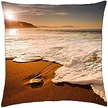 White Ocean Foamy Waves - Throw Pillow Cover Case (18