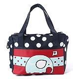 EZ Life Kids Carry Bag - Navy Blue - Dots - Elephant (Small)