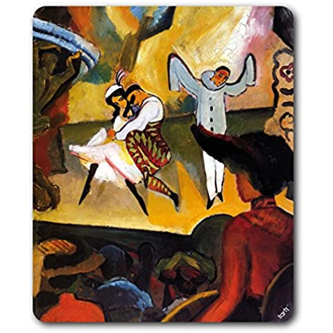 August Macke - Ballet Ruso I, 1912 Alfombrilla Para Ratón (23 x 19cm)