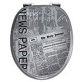 Toilettensitz mit Deckel, Design \Zeitung\