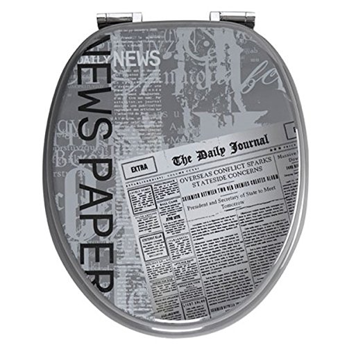 Toilettensitz mit Deckel, Design Zeitung