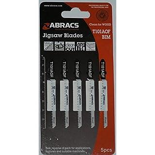 Abracs AS T101AOF Stichsägeblätter, für Holz, 5Stück