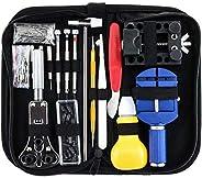 147 Pcs Watch Repair Kit Spring Bar Tool Set Watch Band Link Pin Tool Set with Case